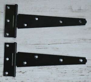 """150 mm 6"""" Black Tee Hinge for Small Shed's, Rabbit Hutches etc  (121A-6"""" Black)"""