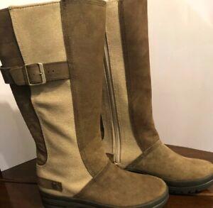 D&G women's ~ below the knee boots size USA 6.5 Blown & Cream RRP $160 - RARE !!
