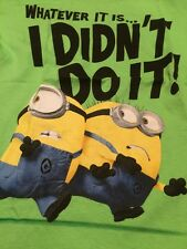 What Ever It Is I Didn't Do It T Shirt Despicable Me Minions Size Medium