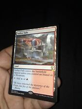 Magic the Gathering MTG Dominaria SULFUR FALLS card print error see pictures