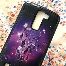 For LG K7 / Tribute 5 / Treasure - Hybrid Armor Case Purple Black Dreamcatcher
