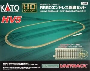 "Kato 3-115 HO Scale HV5 R550mm (21 5/8"") Basic Oval Track Set"
