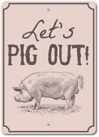 Pig Out Sign, Pig Decor, Pig Gift, Pig Sign, Pig Lover Gift ENSA1003008