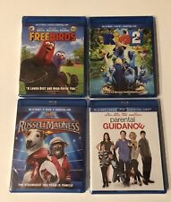 Rio 2 Freebirds Parental Guidance Russell Madness Blu Ray DVD Lot of 4 Movies
