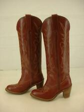 Vtg 1970's Womens 6 M Miss Capezio Brown Leather Knee High Cowboy Boots Western