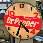 "NICE Vintage Dr Pepper 10 2 4 lighted advertising clock sign 15""  working"
