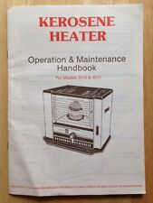 CRESTLINE KEROSENE HEATER OWNER'S MANUAL, MODEL 3510, MODEL 4510, VINTAGE