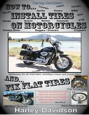 How To Install Tires On Motorcycles & Fix Flat Tires: By James Russell