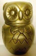 Vintage Raimond Silver-plate Owl Bank Made in Italy 1968