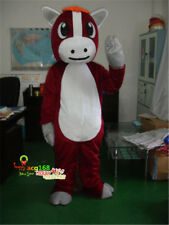 Ads Red Horse Costume Mascot Suit Party Animal Parade Cosplay Fancy Dress Outfit