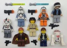 8 LEGO STAR WARS MINIFIGS LOT figures han solo rebel pilot trooper anakin x-wing