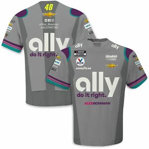 Alex Bowman 2021 Checkered Flag Sports #48 Ally Sublimated Pit Crew Tee Shirt