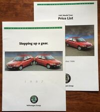 SKODA FELICA CAR BROCHURE 1996 1997 RANGE + PRICE LIST + TEST. HATCHBACK ESTATE