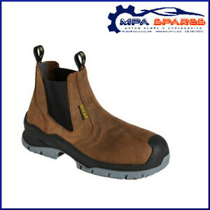 BICAP COMPOSITE TOECAP - IMPENETRABLE SOLE - LEATHER SAFETY CHELSEA WORK BOOT