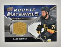 2020-21 UD Series 2 Rookie Materials Relic #RM-GQ Gage Quinney RC