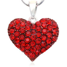 Small Love Red Heart Valentine's Day Pendant Necklace Charm Lady Woman Jewelry