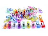 50 Wonder Clips For Fabric Craft Quilting Knitting Sewing Crochet MULTI COLOURED