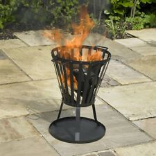 Outdoor Fire Basket Pit Patio Heater BBQ Stove Wood Log Burner Camping Garden