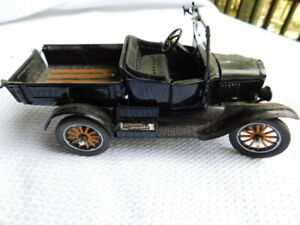 DANBURY MINT MODEL T FORD 1925 RUNABOUT car TRUCK BLACK 1:24 DIE CAST METAL