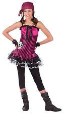 Rockin' Skull Pirate Teen Girls Costume Hot Pink Mini Fancy Dress Funworld
