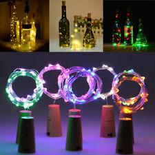 Wine Bottle Fairy String Lights 20 LED Battery Cork For Hen Party Christmas Deco