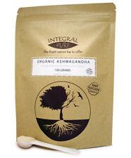 100g Organic Ashwagandha Powder | Certified Organic | 1 gram scoop included