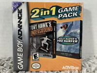 2 in 1 Game Pack: Tony Hawk's Underground/Kelly Slater's Pro Surfer Game Boy NEW