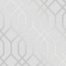 Quarz Spalier Geometrisch Metallische Tapeten - Silber/Grau Fine Decor FD42304