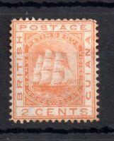 British Guiana 1876 2c orange mint MH CC #127 WS13056