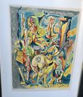 Andre Masson, original signed, numbered and framed lithograph.Mid century modern
