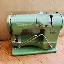 Vintage ELNA Supermatic Portable Sewing Machine Avacado Green W/ Case