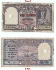 Rare 10 Rs British India Banknote Burma Issue Collectible Unique Hobby. G5-65 US