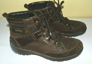 Ecco Gore-Tex Lace Up Boots Women's Ankle Sz 40 US- 9/9.5 Dark Brown