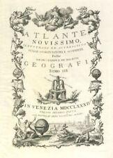 Frontispiece Tomo III. Volume 3 Title page. Atalante Novissimo. ZATTA 1784