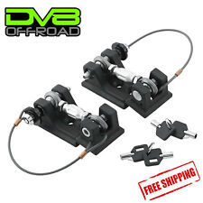DV8 OffRoad Billet Aluminum Locking Hood Hold Downs For 97-06 Jeep Wrangler TJ