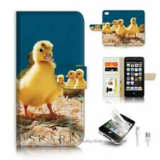 ( For iPhone 5 / 5S / SE ) Wallet Case Cover P6017 Baby Duck