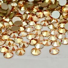 SWAROVSKI CRYSTALS 100 x SS16 METALLIC SUNSHINE GOLD Diamante rhinestone GLUE ON