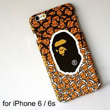 AAPE by Bape Glow in Dark Brown Hard Back Cover Case for iPhone 6 / 6s
