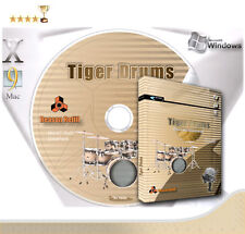 Tiger DRUM KITS for Propellerheads Reason NN-XT REFILL Sample CD on DVD PC & Mac