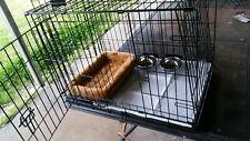 MEDIUM DOG CAGE KIT /2 Doors /Divider/Crate Heavy Duty/  aides in potty training