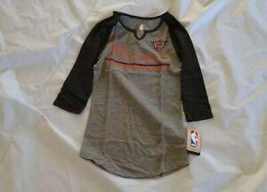 NBA Juniros Girl's Phoenix Suns 3/4 Sleeve V-Neck Black/Gray Shirt Size S(3-5)