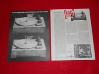 VINTAGE 1961 UNITED AUDIO DUAL 1006 TURNTABLE BROCHURE FACT SHEET REVIEW SHEET