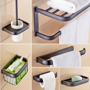 Oil Rubbed Bronze Bathroom Hardware Set Bath Accessories Towel Bar Paper Holder