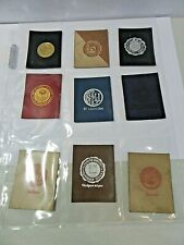 #F5 Lot 3 Tobacco Lot Of Nine College Pennants Leather Assorted