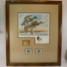 1988 UTAH Waterfowl Executive Duck Stamp Print w/ Remarque by Dave Chapple