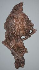 Clearance Terracotta Tree man Wall Plaque Mythical Decor Green man Sculpture