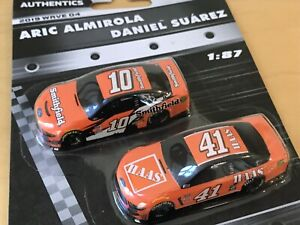 Nascar Authentics Aric Almirola & Daniel Suarez Scale 1:87 2 Pack New