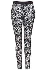 Topshop Floral Print Treggings Leggings - Mono - UK 8/EU 36/US 4 - RRP £25 - New