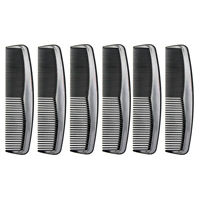 "Favorict (6 Pack) 5"" Pocket Hair Comb Beard & Mustache Combs for Men's Hair"