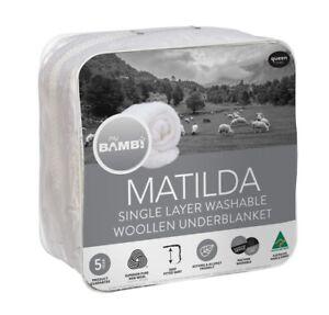 Bambi Bambi Matilda Single Layer Mattress Topper Underblanket Underlay